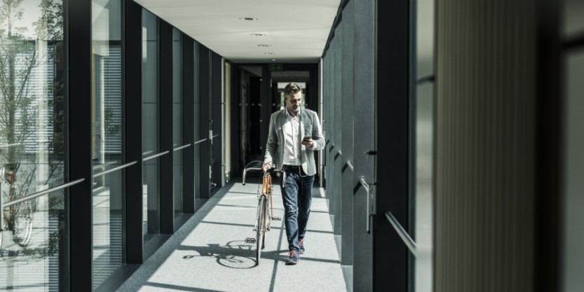 Man walking in office
